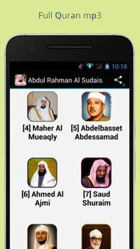 Al Quran mp3 -Fares Abbad Free apk screenshot