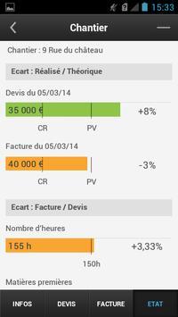 Coût Revient - Suivi Chantiers apk screenshot