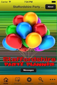 Staffordshire Party Planning poster