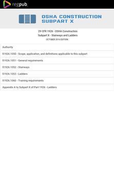 29 CFR 1926 - Subpart X apk screenshot