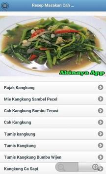 Resep Masakan Cah Kangkung apk screenshot