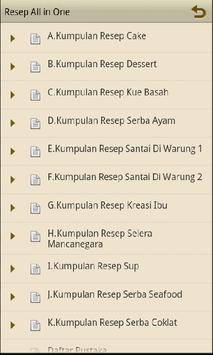 Resep All in One apk screenshot
