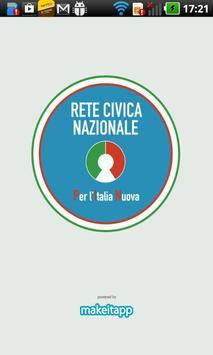Rete Civica Nazionale poster