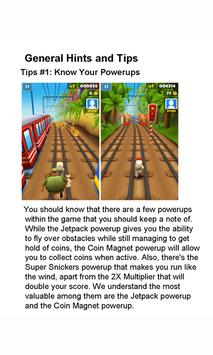 Tip Guide For Subway Surfers apk screenshot