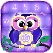 Sweet Owls Keyboard Themes icon