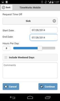 TimeWorksPlus apk screenshot