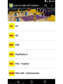 Guide for NBA 2K13 Edition poster