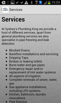Sydneys Plumbing King apk screenshot