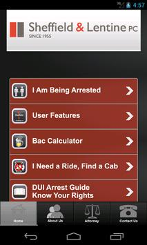 DUI App by Sheffield & Lentine apk screenshot