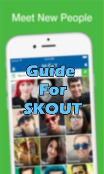 Chat SKOUT Meet people Guide poster