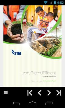 ITM 2014 Sustainability Report poster