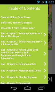 ITM 2014 Sustainability Report apk screenshot