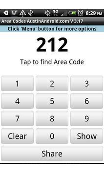 Instant Area Code apk screenshot