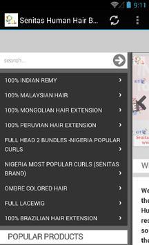 Senitas Human Hair apk screenshot