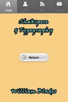 Shakspere & Typography poster