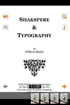 Shakspere & Typography apk screenshot
