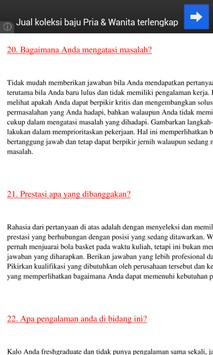 Interview 40 Pertanyaan & Jwbn apk screenshot