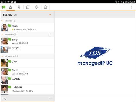 TDS managedIP Hosted Tablet UC poster