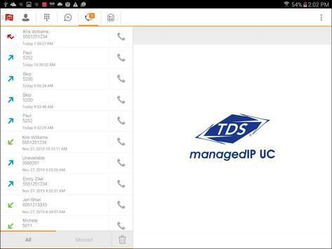 TDS managedIP Hosted Tablet UC apk screenshot