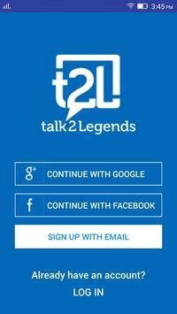 talk2Legends, t2L poster