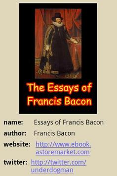 The Essays of Francis Bacon poster