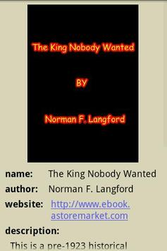 The King Nobody Wanted poster