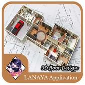 3D floor Design icon