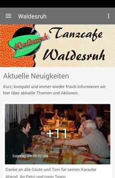 Tanzcafe Waldesruh poster