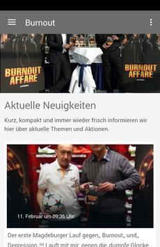 Burnout Affäre aus Magdeburg poster
