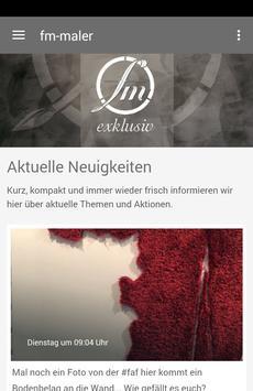 FM-Malerbetrieb poster