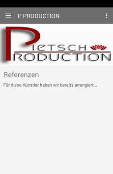PIETSCH PRODUCTION poster