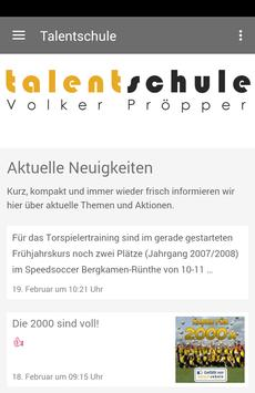Talentschule Volker Pröpper poster