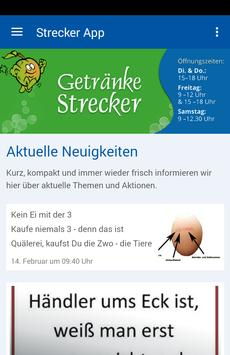 Getränke Strecker poster