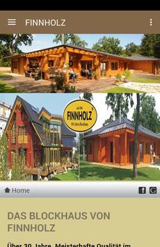 Finnholz Blockhausbau/Zimmerei poster