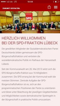 SPD Fraktion Lübeck poster