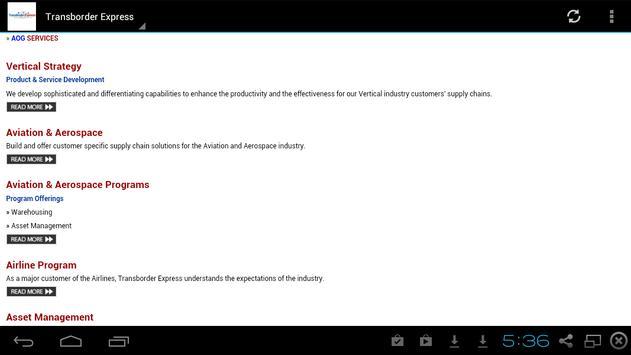 Transborder Express apk screenshot
