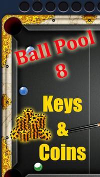Keys & Coins 8 Ball Pool poster