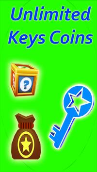 Unlimited keys Coins poster