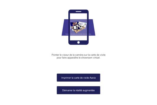 Aaxia carte de visite 3D poster