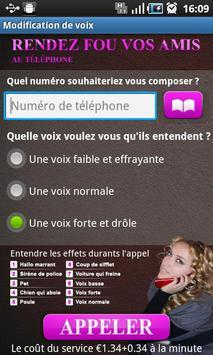 Modification de voix apk screenshot