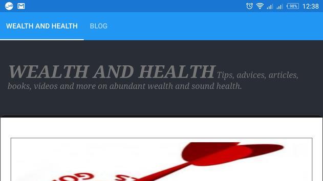 WEALTH AND HEALTH apk screenshot