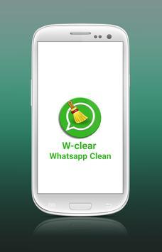 W-Clear Whatsapp Clean poster