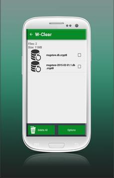 W-Clear Whatsapp Clean apk screenshot