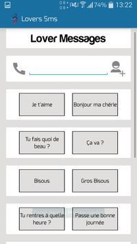 Lover's SMS apk screenshot