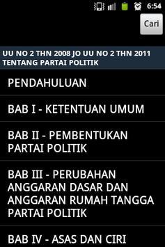 UU Partai Politik apk screenshot