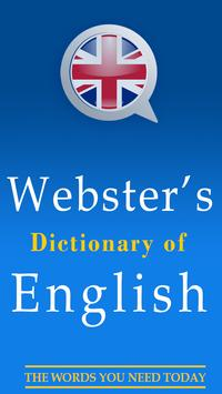 English Dictionary Webster poster