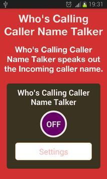 Whos Calling Caller Name Talke poster