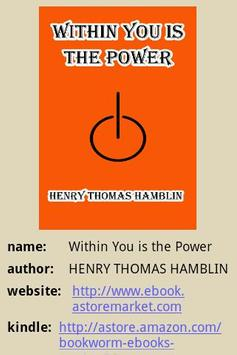 Within You is the Power poster