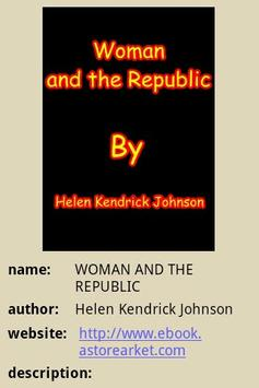 WOMAN AND THE REPUBLIC poster