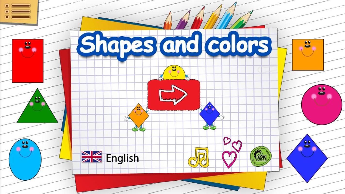 Worksheet Shapes And Colors For Kids shapes and colors for kids apk download free education app screenshot